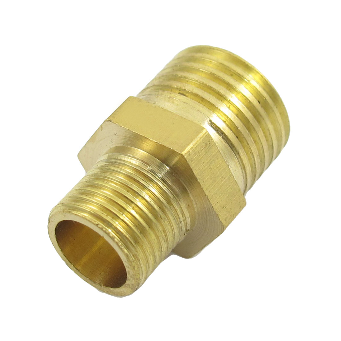 Air Pneumatic Pipe 12.5mm to 9mm M/M Brass Reducing Nipple Coupler Adapter