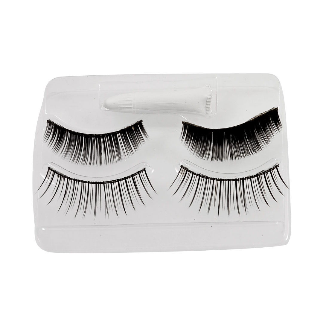 2 Pairs Making Up Black Long False Eyelashes Replacement for Women