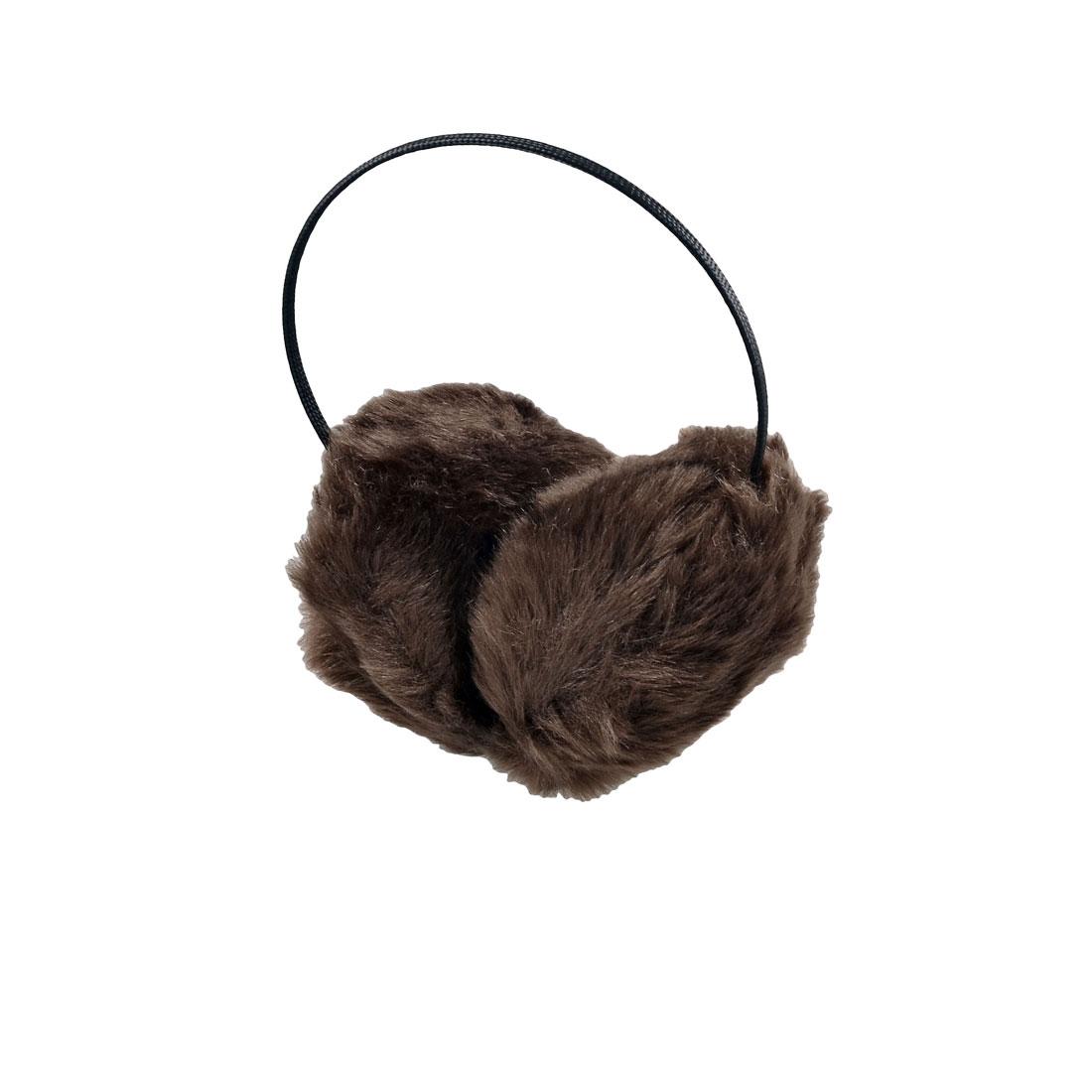 Coffee Color Faux Fur Ear Warmer Muffs Headband Fluffy Earmuffs for Ladies