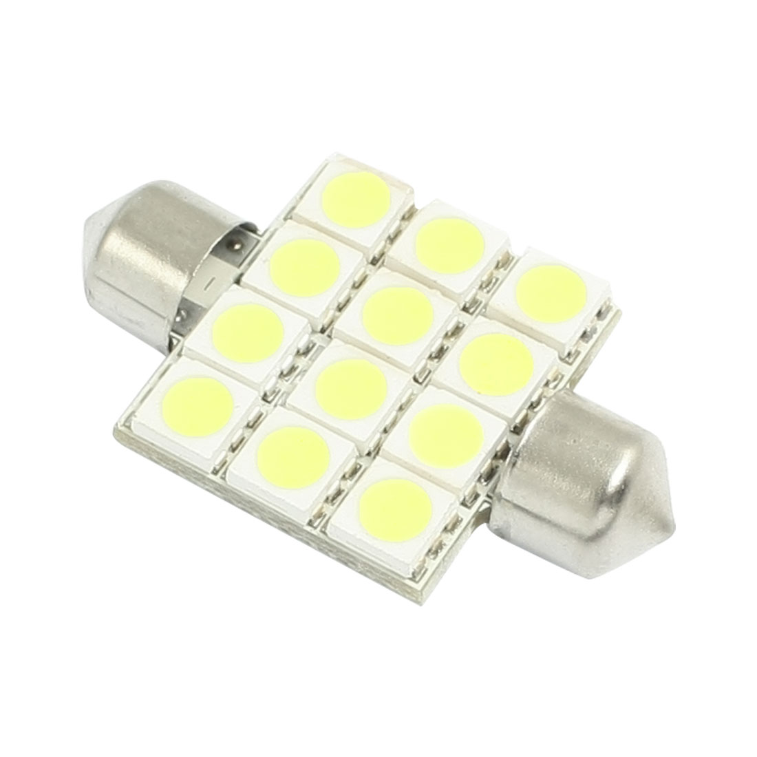 Car 5050 12 SMD White Dome Map Festoon LED Light Lamp Bulb 41mm DC 12V internal