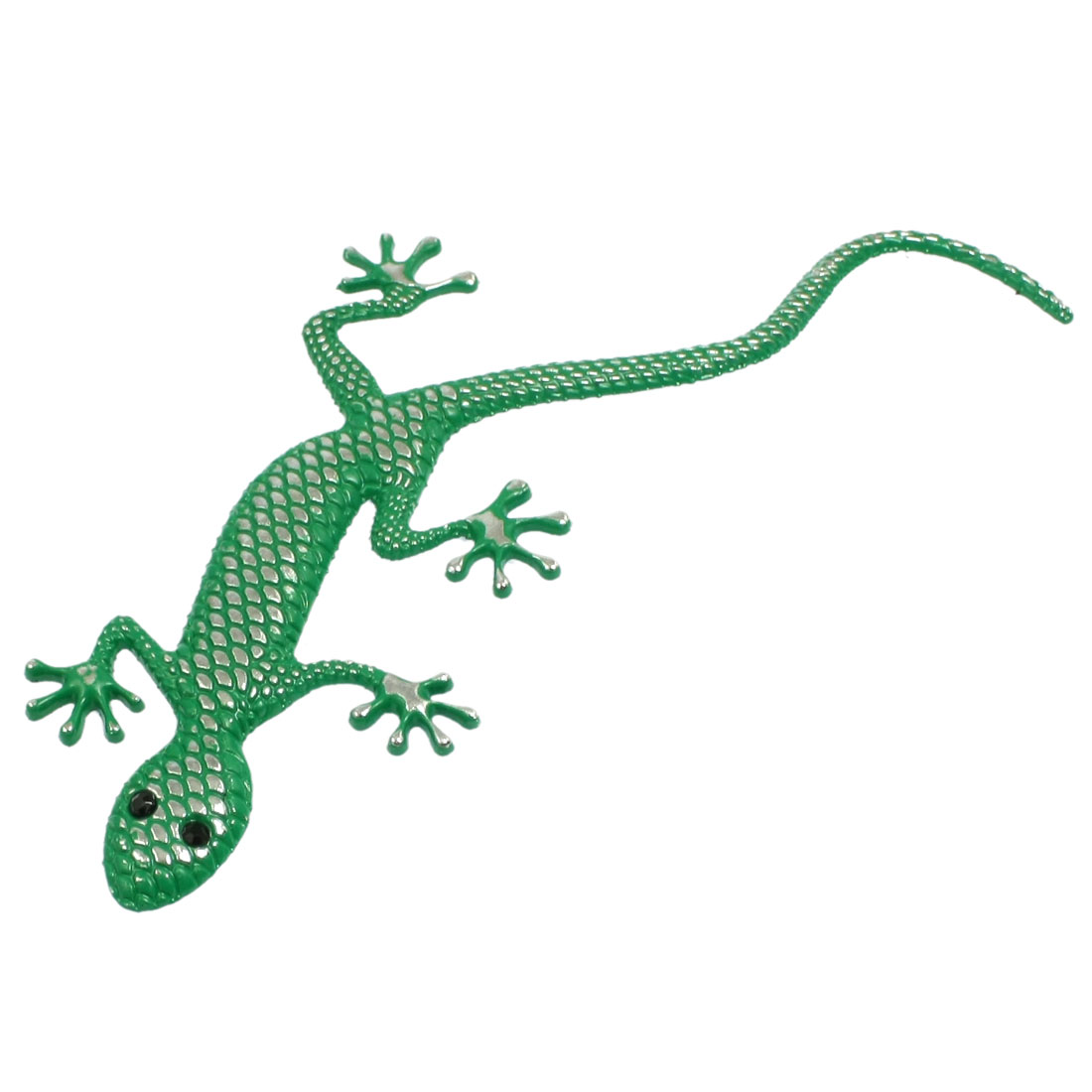 Green Metal Gecko Pattern Auto Car Badge Sticker Emblem Decor