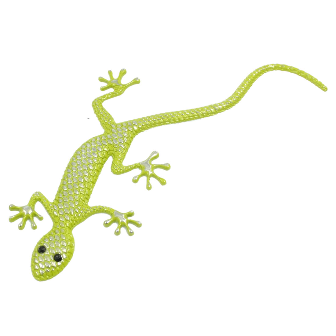 Yellow Metal Gecko Pattern Auto Car Badge Sticker Emblem Decor