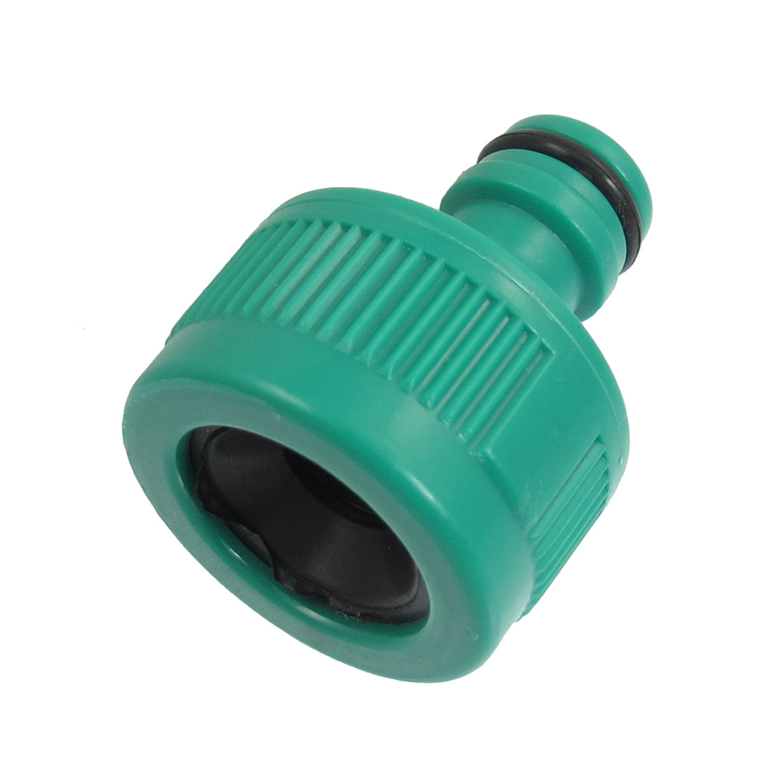 Plastic Garden 14.5mm Thread Spray Hose Nozzle Adapter Connector Green