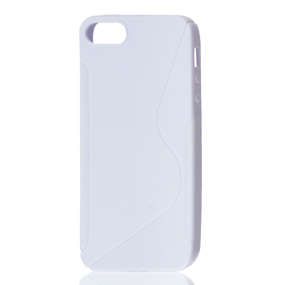 Anti-slip S Shape Grip White Soft Case Cover for Apple iPhone 5 5G 5th