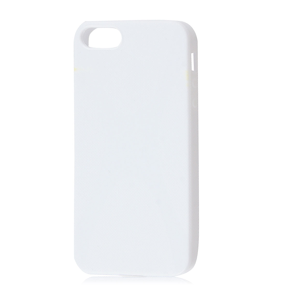 Textured White Soft Plastic Protective Cover Case for iPhone 5 5G