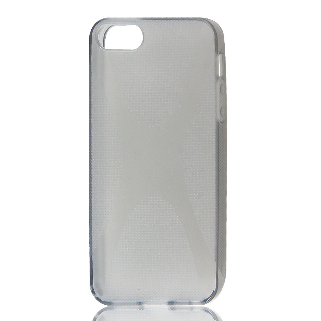Textured Anti-slip Gray Soft Plastic Cover Case for iPhone 5 5G