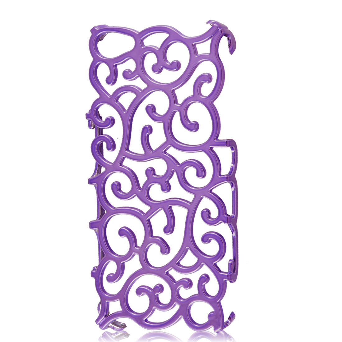 Purple Hollow Palace Flower Pattern Hard Back Cover Case for iPhone 5 5G