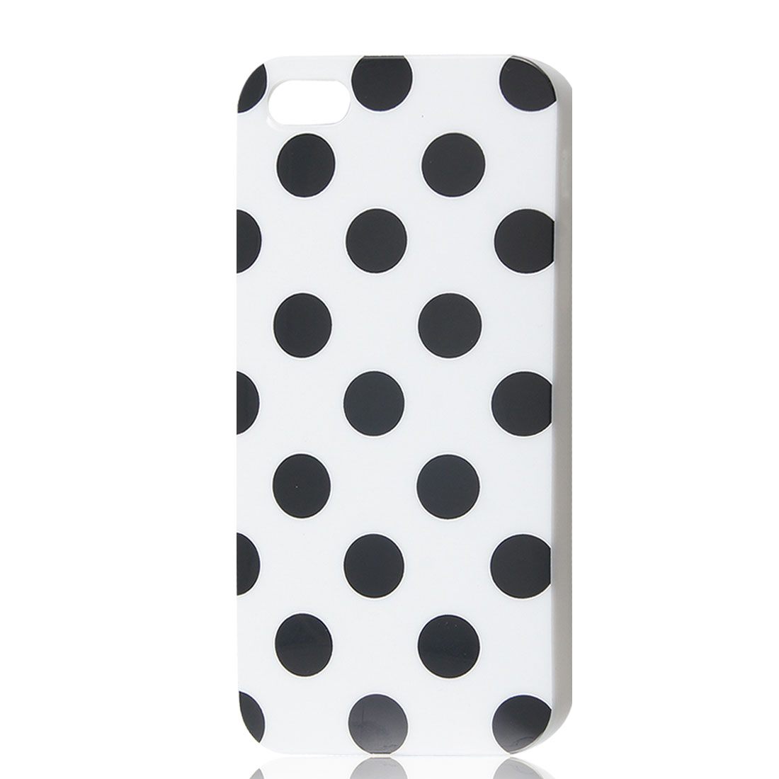 Black Polka Dots White Soft Plastic Case Cover for iPhone 5 5G 5th Gen