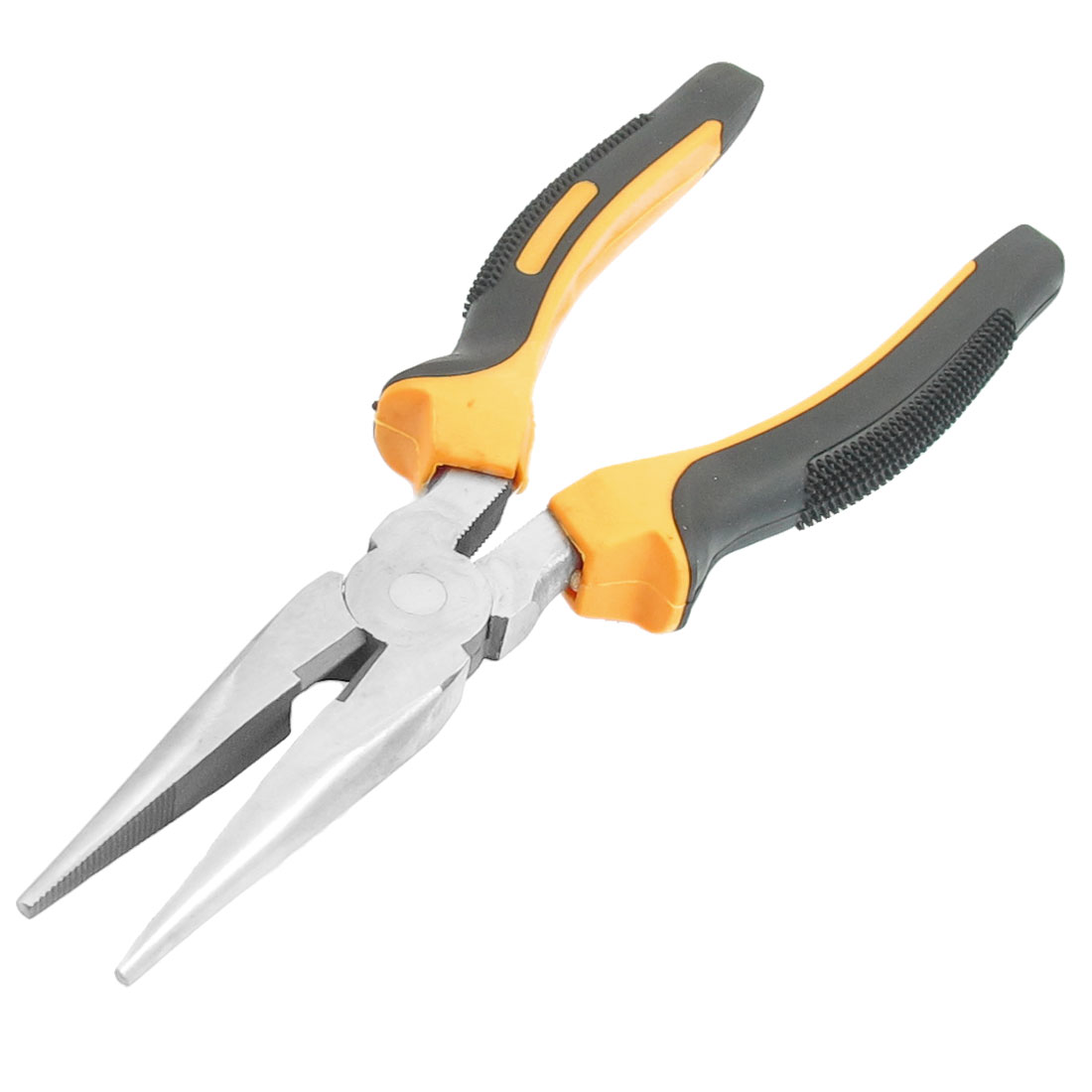"Plastic Coated Handle Nose Pliers Wire Cutter Yellow Black 8"" Length"