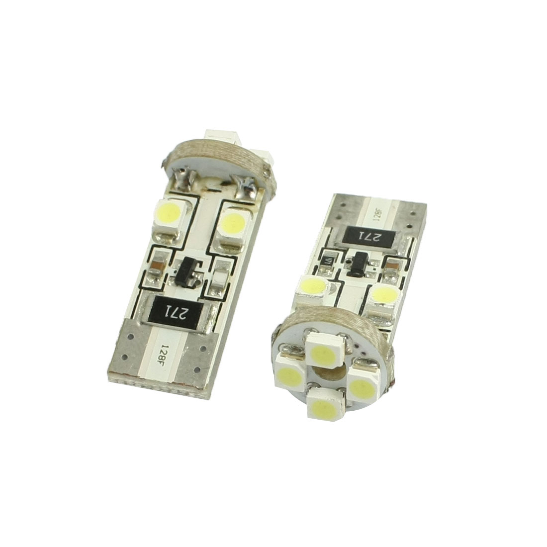 2 pcs T10 White 5050 SMD 5-LED Canbus Error Free Car LED Light Bulb