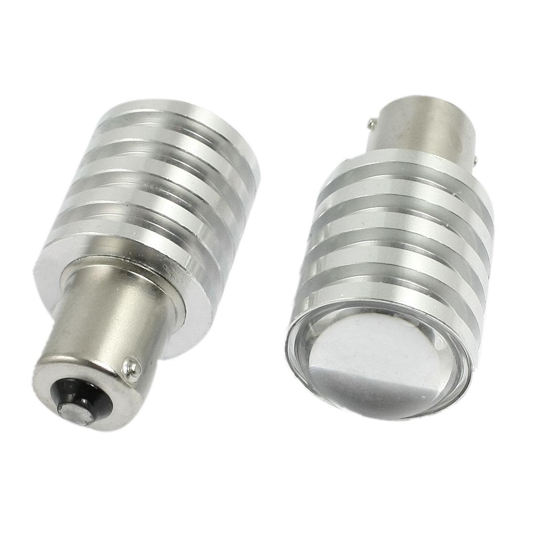2 Pcs Car 1156 BA15S P21W White LED Light Bulb Rear Turn Brake Tail Lamp