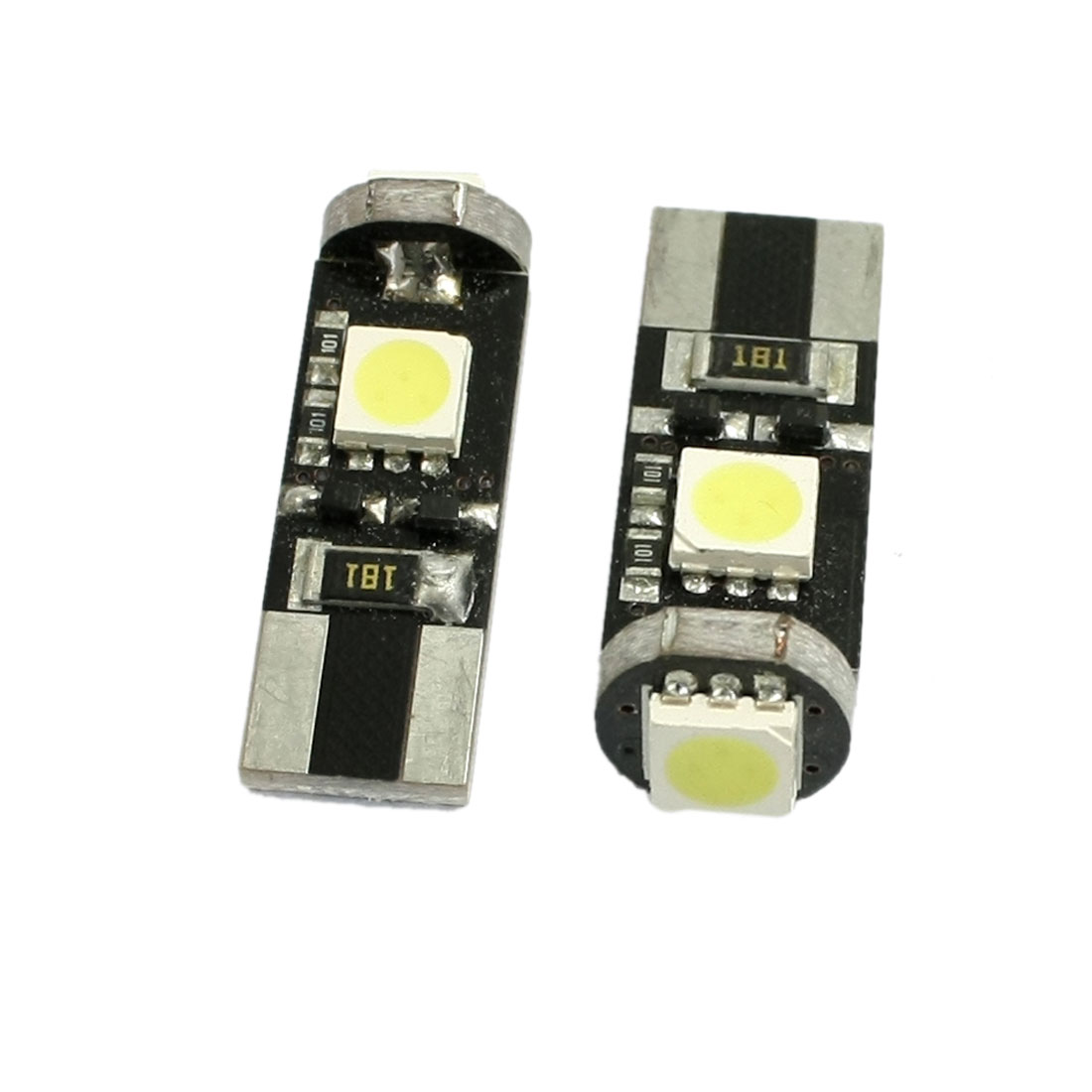 2 pcs T10 White 5050 SMD 3-LED Canbus Error Free Car LED Light Bulb