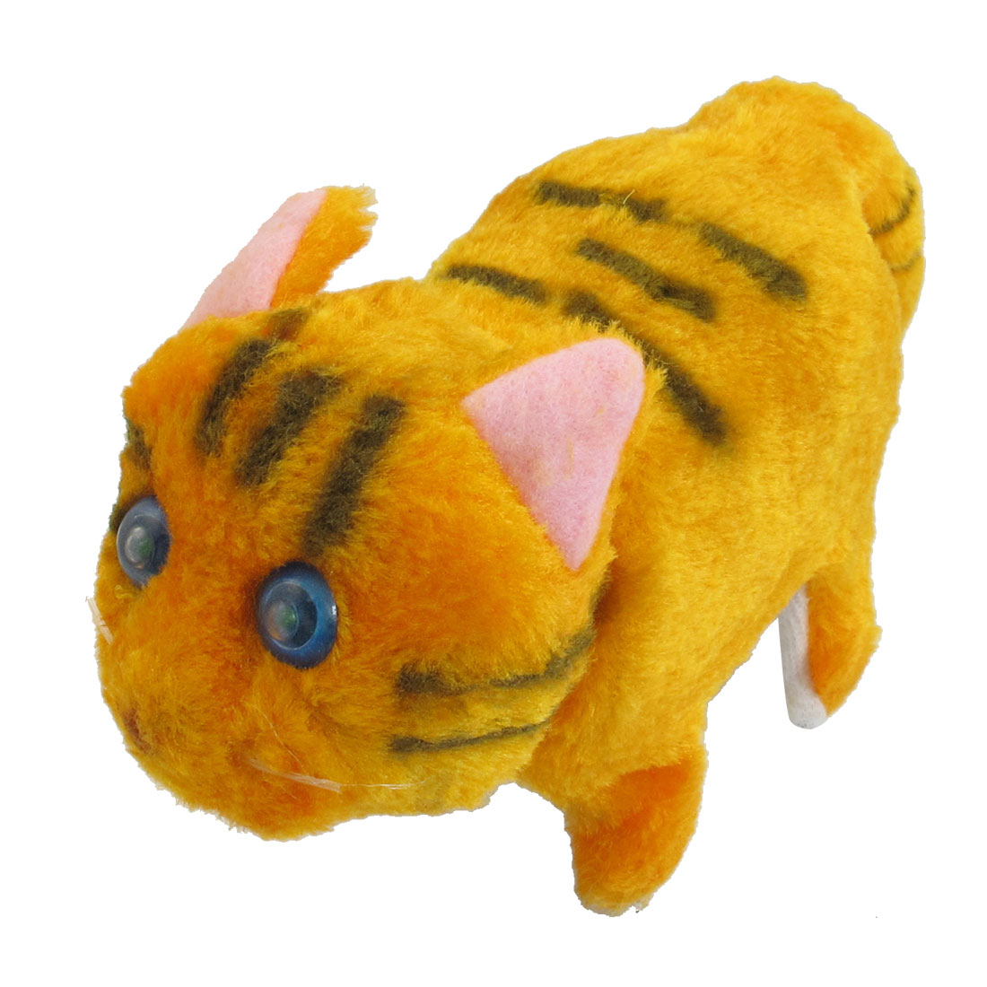 Orange Plush Walking Barking Electronic Cat Toy for Children Kids