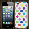 Colorful Polka Dots White Soft Plastic Case Cover for Apple iPhone 5 5G
