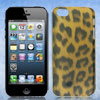 Leopard Print Hard Back Case Cover Brown Black for Apple iPhone 5 5G