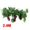 Home Decorative Green Artificial Grape Vine 7.9 Ft