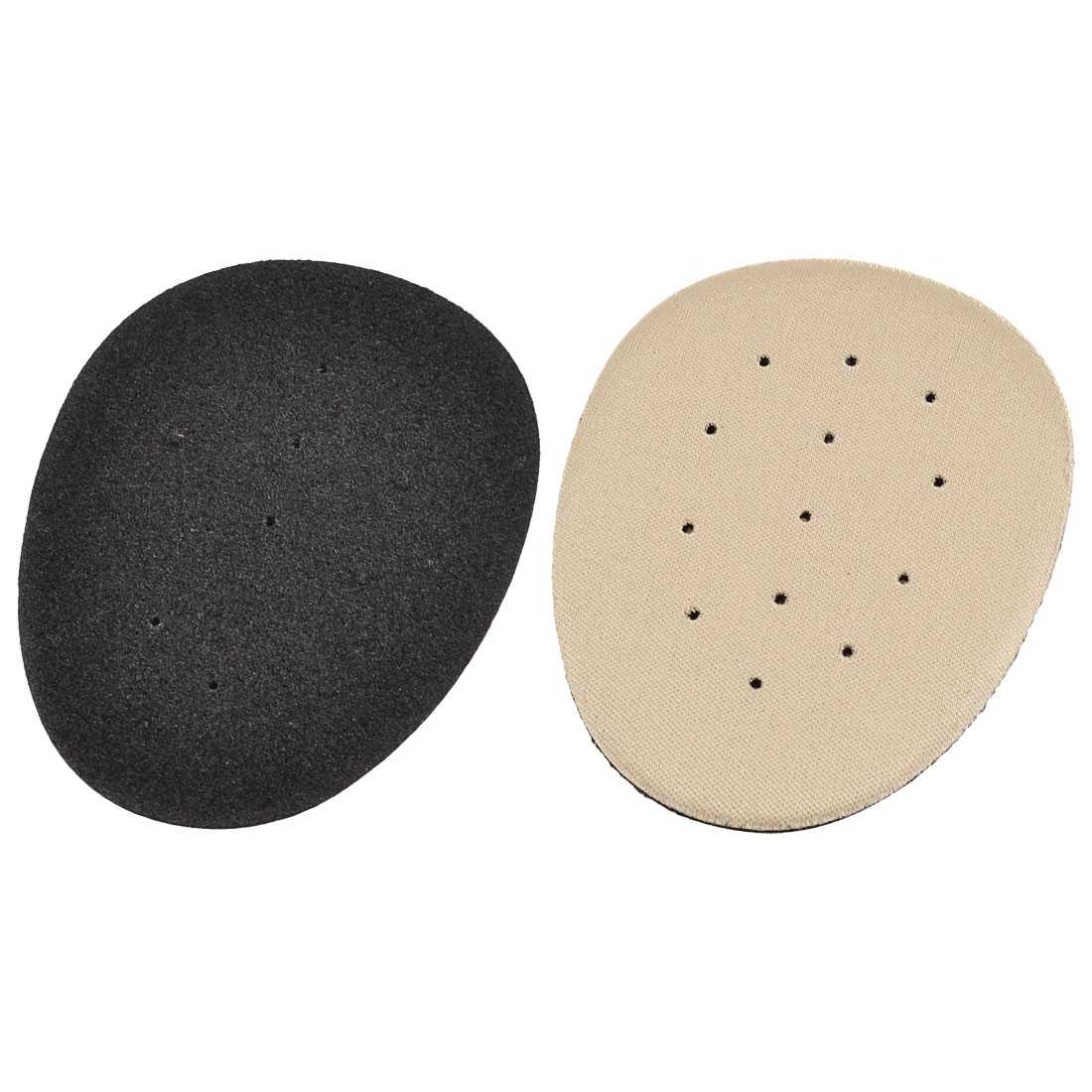 Hole Design Gray Black Foam Shoe Cushion Front Pads Insoles Pair