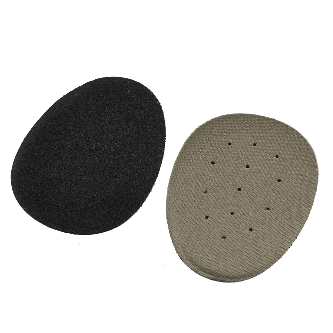 Pair Foam Holes Design Front Pad Cushion Half Insoles Brown Black
