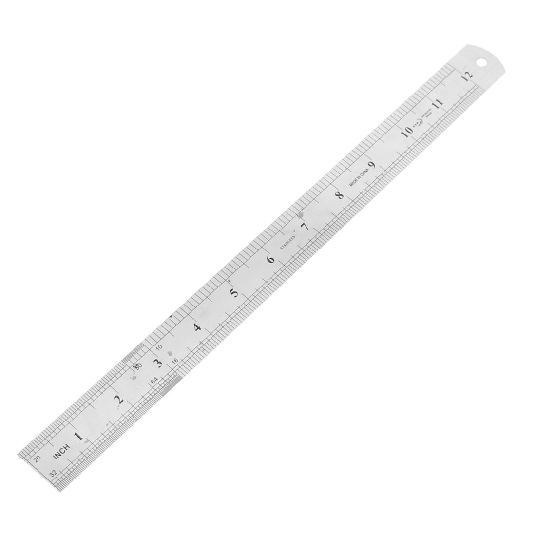 School Office Measurement Tool 2 Sides Metal Straight Ruler Rule 30cm/12""
