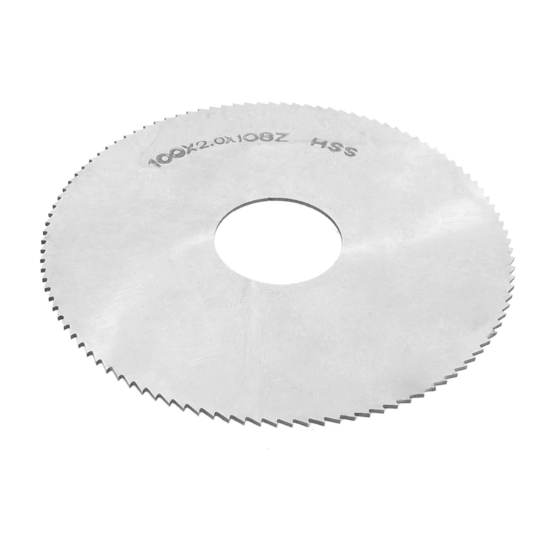 100mm x 27mm x 2mm 108 Teeth 108T HSS Incision Milling Slotting Saws Cutter