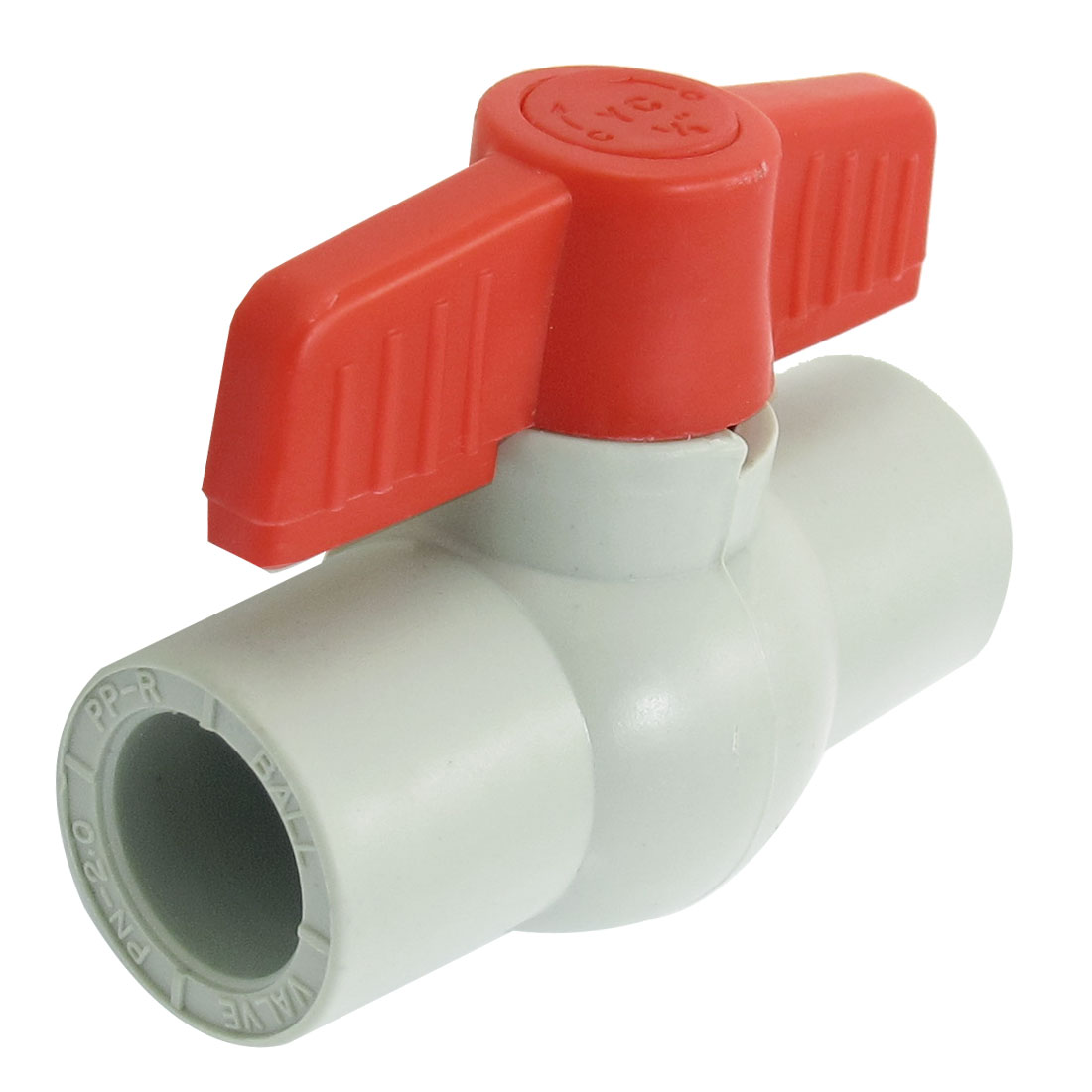 Red Handle 19mm x 19mm Slip Ends Full Port PPR Ball Valve
