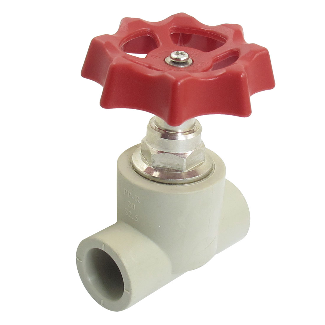 Red Rotary Knob 20mm x 20mm Hole Stop Water PPR Gate Valve