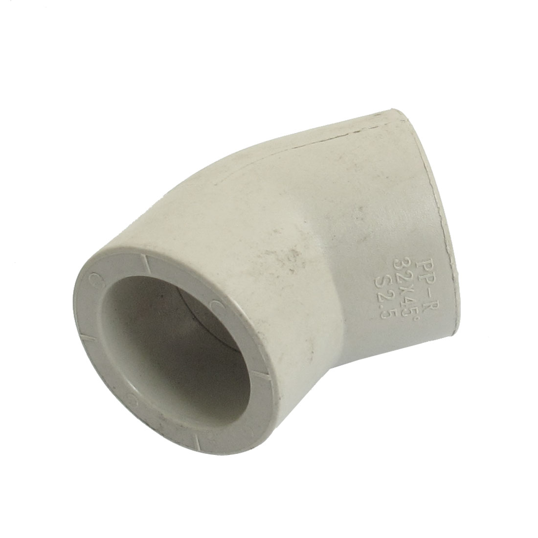 32mm Inner Diameter 45 Degree Elbow PPR Pipe Connectors Gray