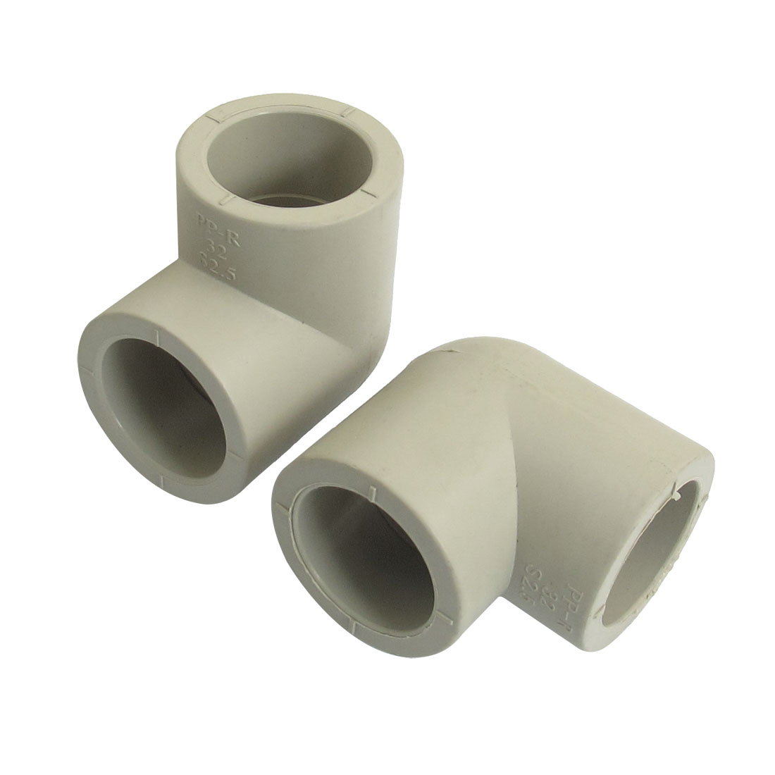 "1"" Hole PPR Drainage Pipe Adapter Elbow Connectors Fittings 2pcs"