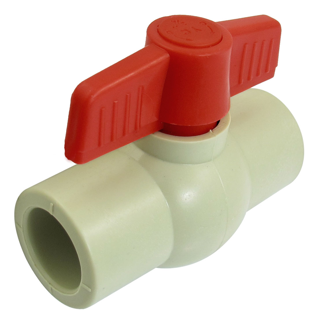 Red Handle 24mm x 24mm Slip Ends Full Port PPR Ball Valve