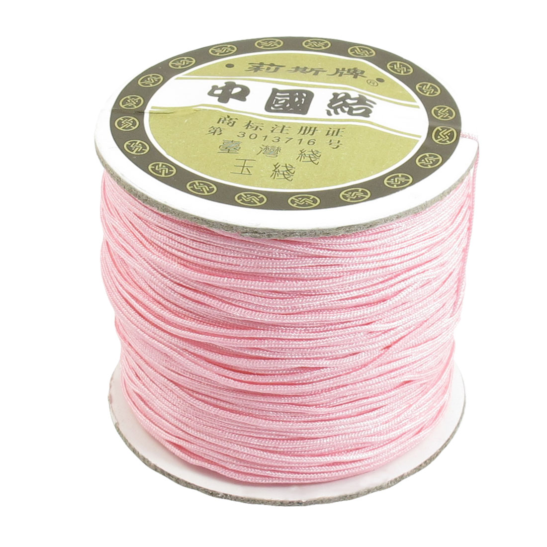 Nylon Bracelet Braided Rope Chinese Knot Rat Tail Cord Pink 1mm 150 Meters