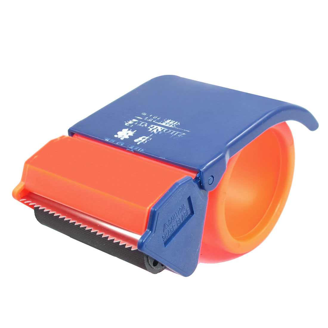 "Handheld 2.5"" Width Packaging Adhesive Tape Roll Dispenser Cutter Blue Orange"