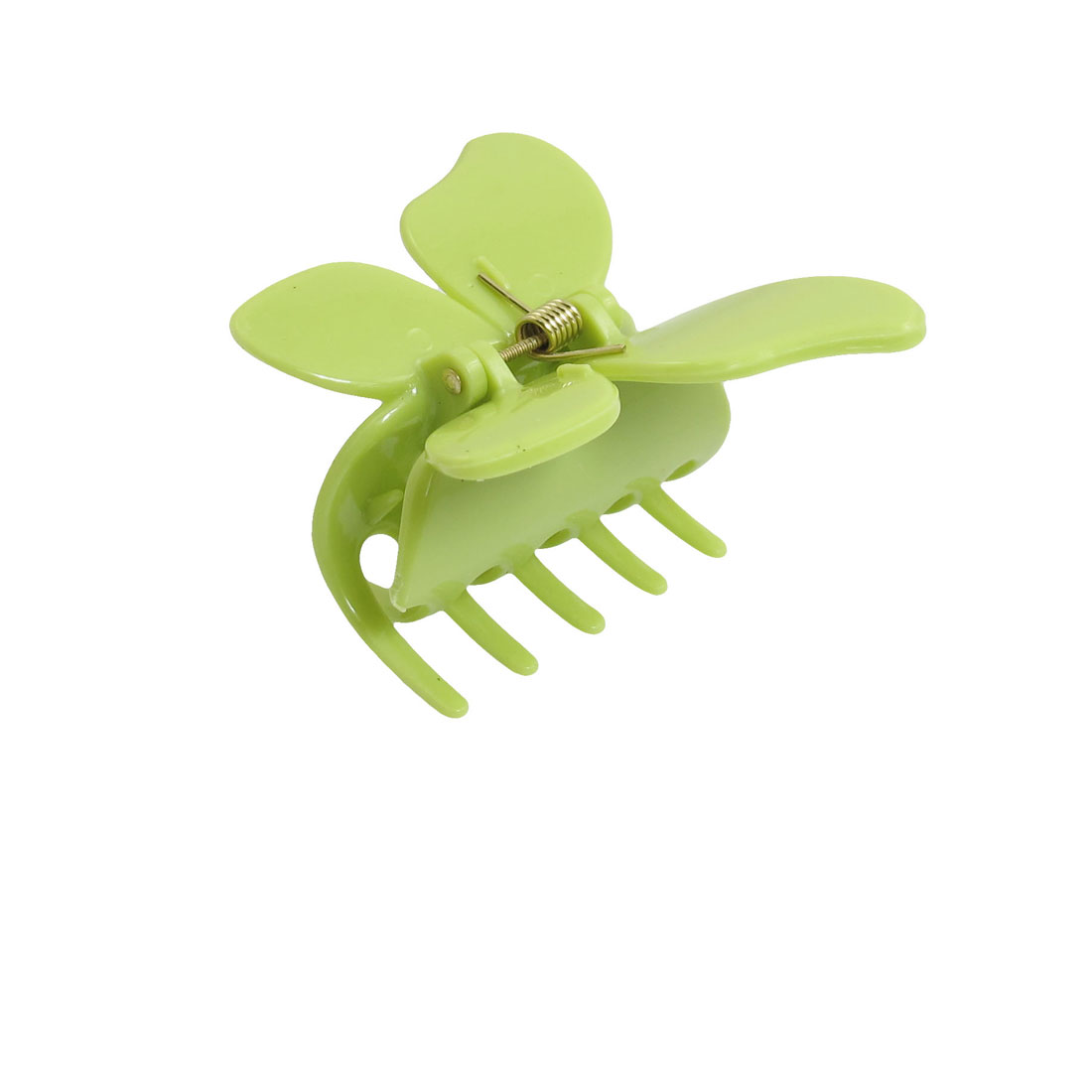 3 Pcs Green Butterfly Shaped 6cm Width Hairclip Claws for Ladies