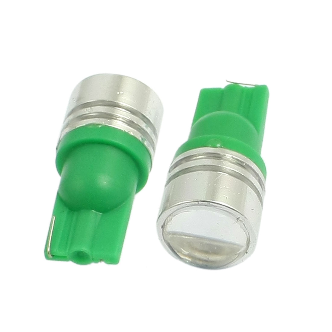 2 Pcs Green 1.5W T10 W5W 904 168 194 LED Car Dome Map Lights Bulbs