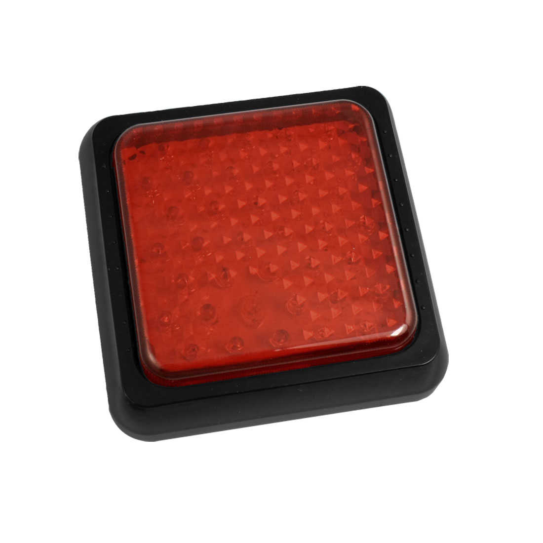 Car Truck 38 LED Red Square Cover Stop Brake Light Lamp Wire
