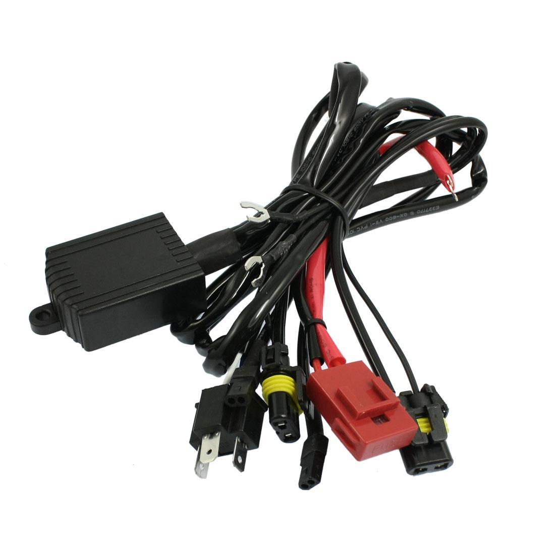 Truck Car H4 Hi/Lo Bi-Xenon Light Wiring Controller Fuse Relay Harness