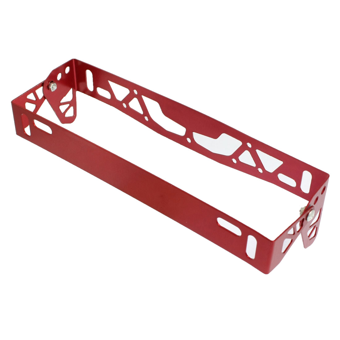 Auto Car Truck Burgundy Metal License Plate Bracket Holder Replacement