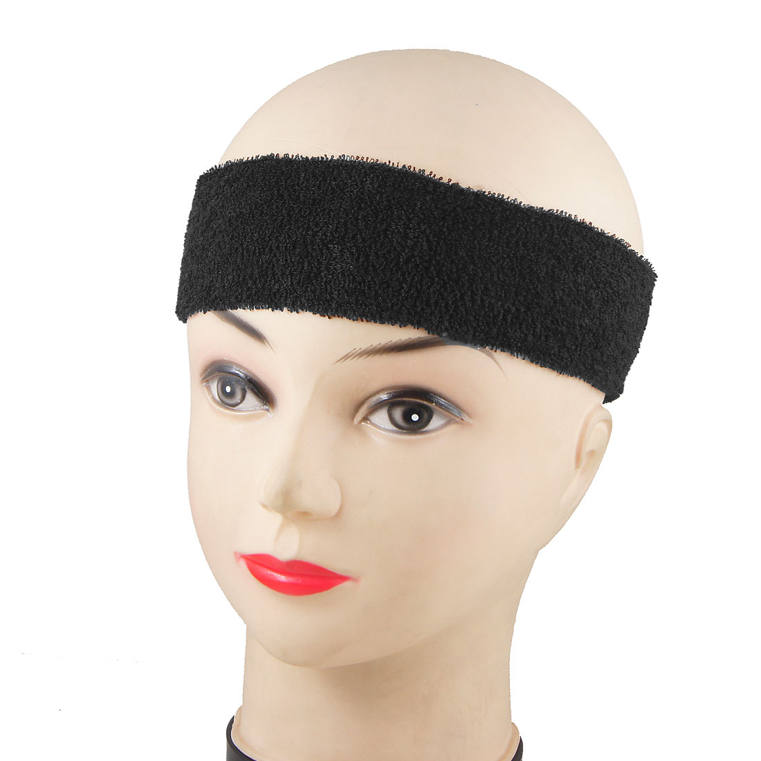 Ladies Chocolate Color Sports Sweatband Elastic Head Band Headband 3 Pcs