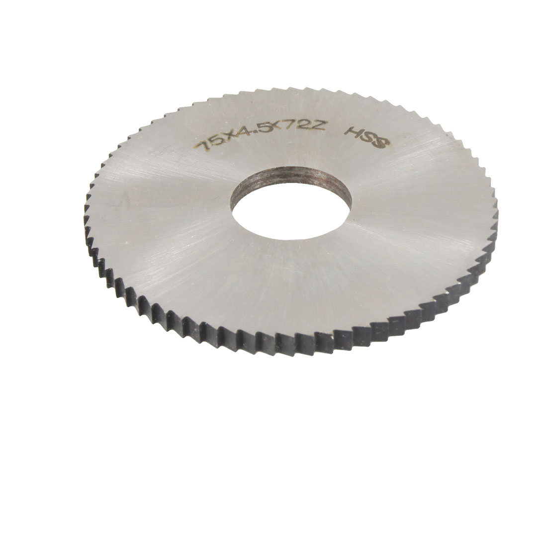 75mm x 4.5mm x 22mm High Speed Steel Milling Cutter 72T Slitting Saw Blade