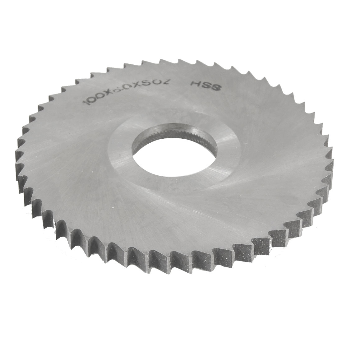 Silver Tone HSS 50T Slitting Saw 100mm x 6mm x 27mm