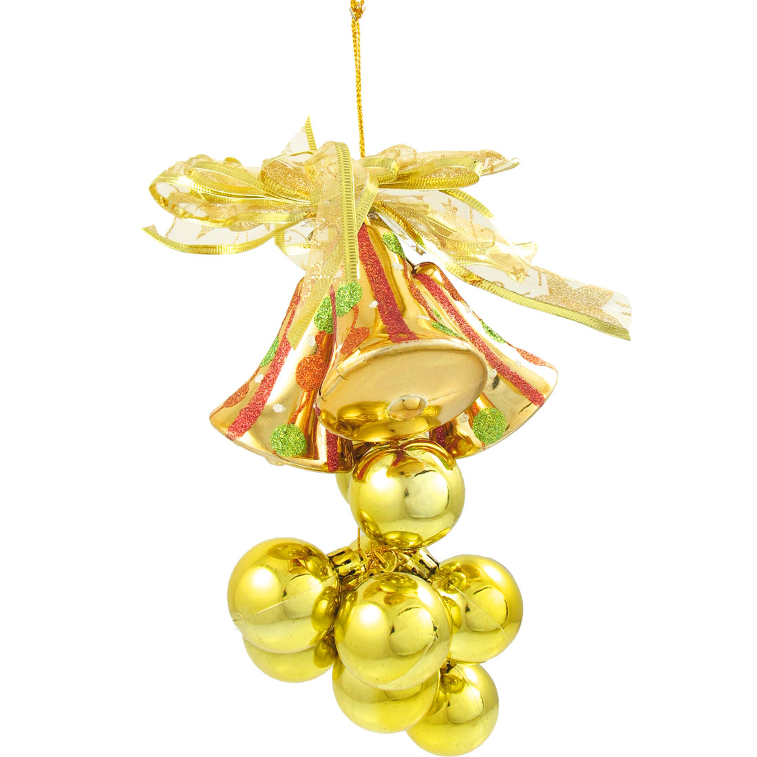 Charming Gift Glittery Gold Tone Balls Decor Chrismas Tree Hanging Ornament