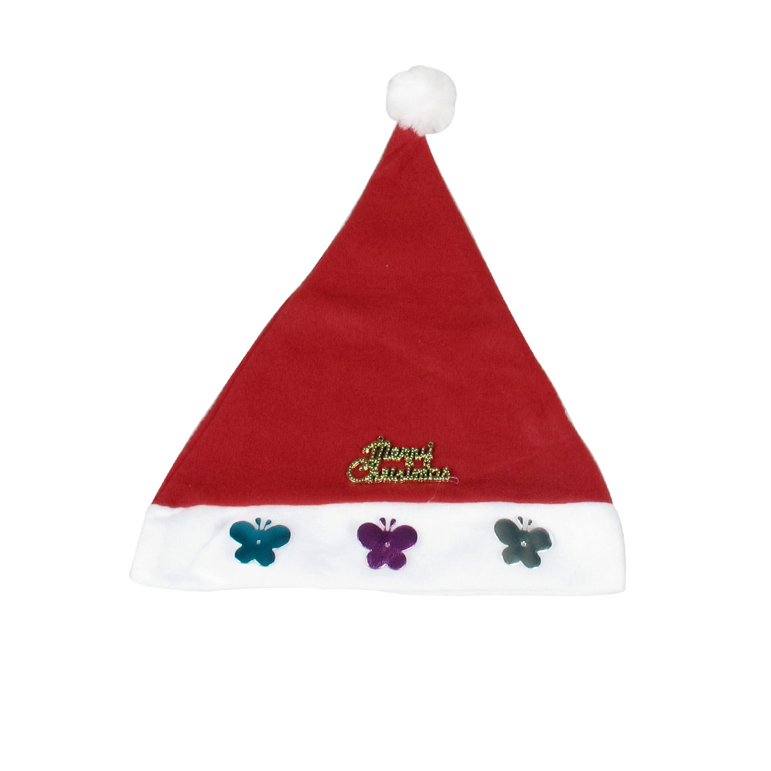 5 x Letters Butterfly Decor True Red Xmas Christmas Santa Hat Cap for Child