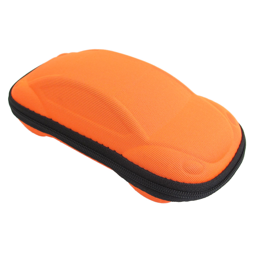 Orange Car Shaped Zippered Eyeglasses Sunglasses Case Box