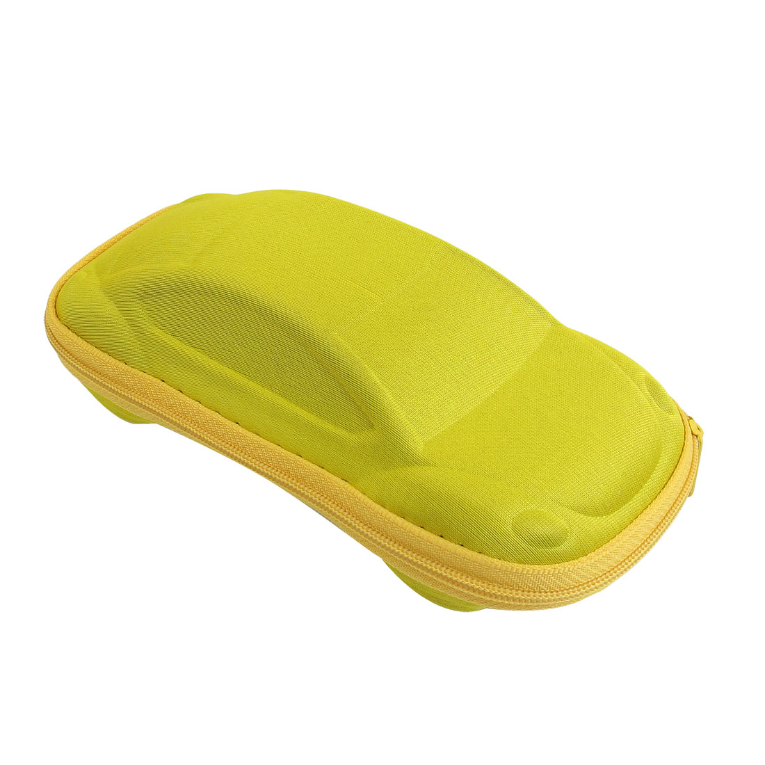 Yellow Car Shaped Zippered Eyeglasses Sunglasses Case Box