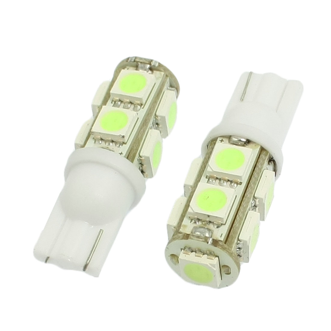 2 Pcs Car Auto T10 Cold Blue 5050 9-SMD LED Bulb Light Lamp