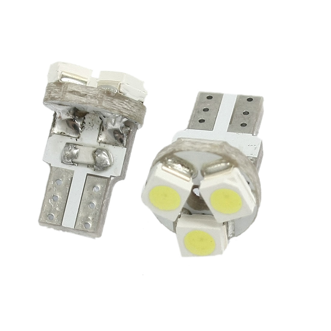 2 Pcs T5 Wedge White 1210 3 SMD LED Light Round Panel Bulb Lamp