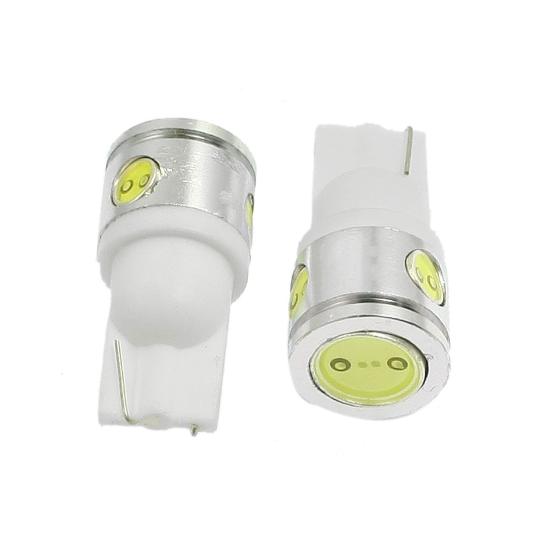 2 Pcs White 2.5W T10 W5W 904 168 194 Car LED Dome Map Light Bulb