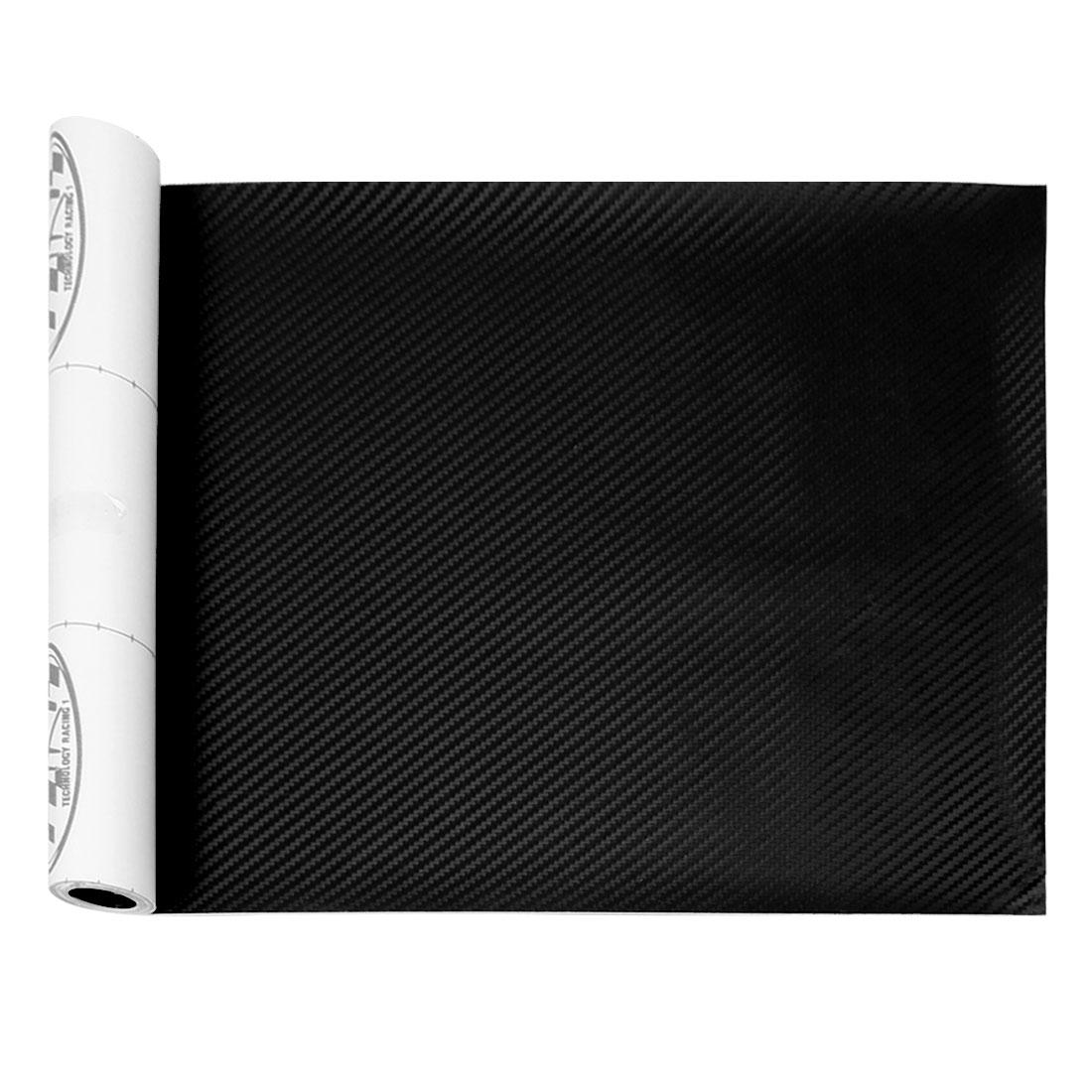 Black Car Wave Pattern Carbon Fiber 3D Film Sticker 200x30cm