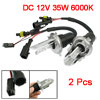 2 Pcs H4 Hi/Lo Beam HID Xenon Car Headlight Lights Bulbs Lamps 35W 6000K