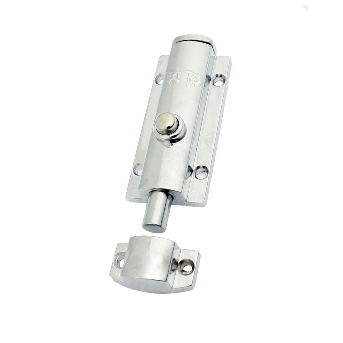 """Round Push Button Design Barrel Bolt Door Latch 3.5"""""""