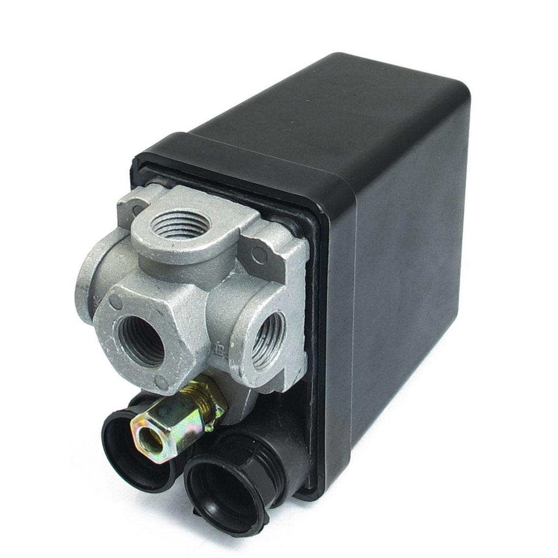 AC 240V 20A 4 Port 175 PSI 12 Bar Air Compressor Pump Pressure Switch Control Valve